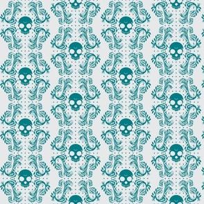 Turquoise Skull Pattern