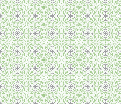 Amara Pistachio Green-Charcoal Grey fabric by floating_lemons on Spoonflower - custom fabric