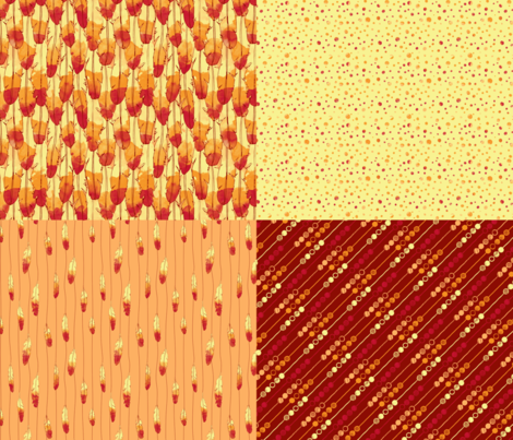 Phoenix Rising fabric by leighr on Spoonflower - custom fabric