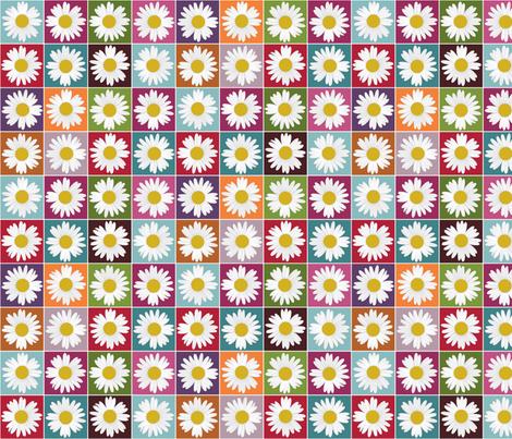 garden daisy fabric by scrummy on Spoonflower - custom fabric