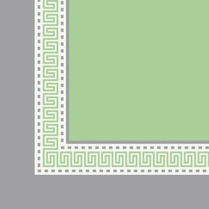 Napkin Fret Pistachio Green-Plain