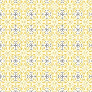 Amara Amber Yellow-Charcoal Grey