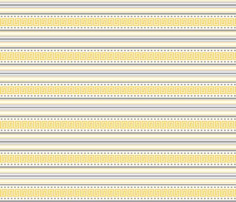 Fret Stripe Amber Yellow-Charcoal Grey fabric - floating_lemons ...