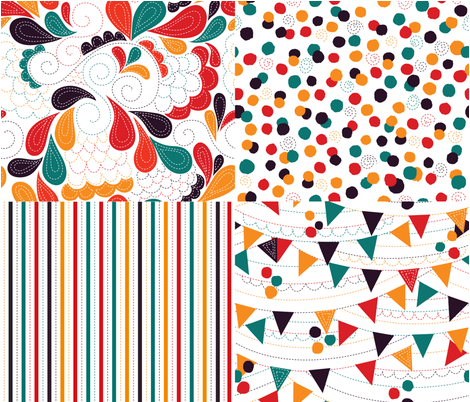 Crazy Circus Coordinates fabric by made_in_shina on Spoonflower - custom fabric