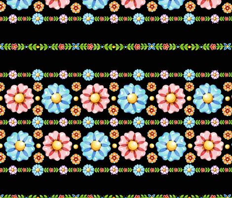 Millefiori Folkloric Stripe fabric by patriciasheadesigns on Spoonflower - custom fabric