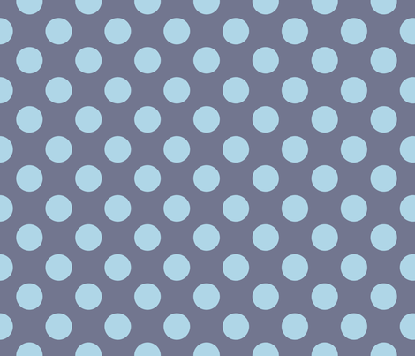 Blue Grey dots fabric by needlebook on Spoonflower - custom fabric