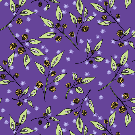 Brazenberries in  Starlight. fabric by rhondadesigns on Spoonflower - custom fabric