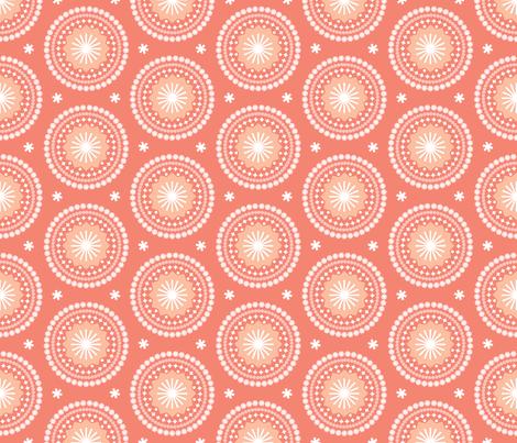 Bandana* (Space Fruit) || scarf handkerchief stars starburst circles flowers fireworks geometric sun mandala sunshine fabric by pennycandy on Spoonflower - custom fabric