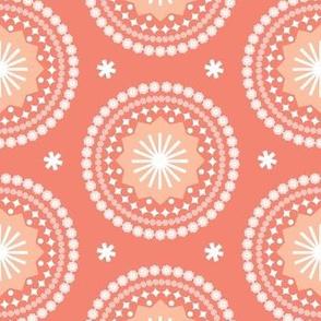 Bandana* (Space Fruit) || scarf handkerchief stars starburst circles flowers fireworks geometric sun mandala sunshine