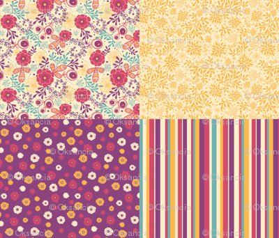 Secret Garden - Four Fabric Coordinates