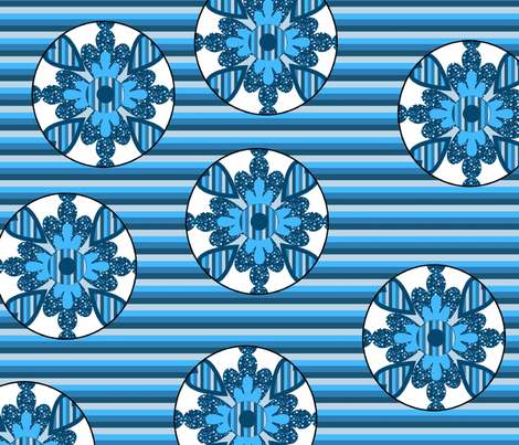 big_blue_floral_polka_dots fabric by dogdaze_ on Spoonflower - custom fabric