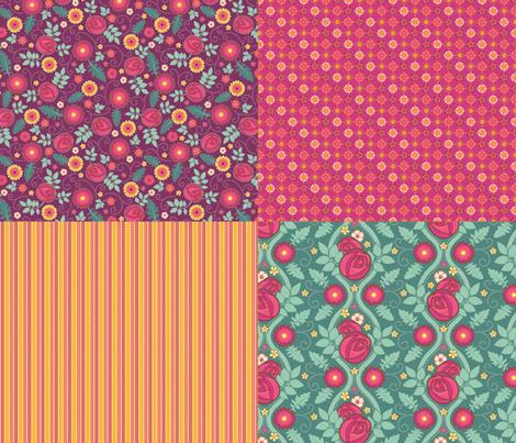 June Birthday Coordinates fabric by jennartdesigns on Spoonflower - custom fabric