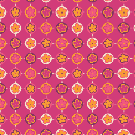 June Birthday - Dot Coordinate fabric by jennartdesigns on Spoonflower - custom fabric