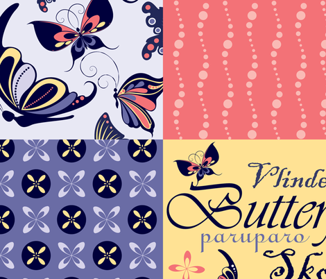 Butterfly Away fabric by khulani on Spoonflower - custom fabric