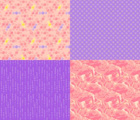 Sweets & Flowers Coordinate fabric by mongiesama on Spoonflower - custom fabric