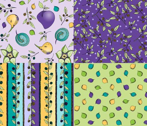 Brazenberry Coordinates. fabric by rhondadesigns on Spoonflower - custom fabric