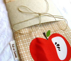 pear apple towel