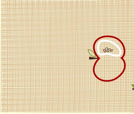 pear apple towel fabric by sofs on Spoonflower - custom fabric