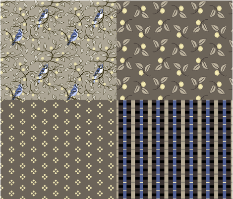 colorblind coordinates full yard fabric by thatswho on Spoonflower - custom fabric