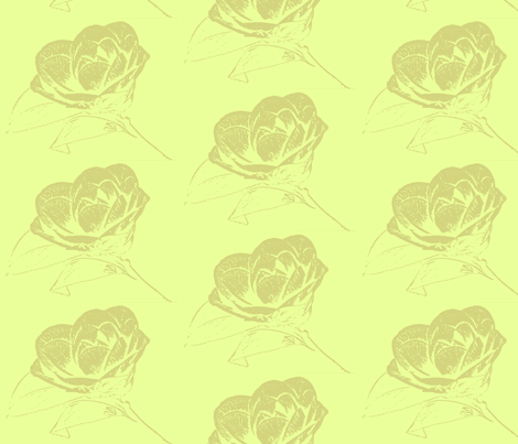 Camelia in Chartuese fabric by retrofiedshop on Spoonflower - custom fabric