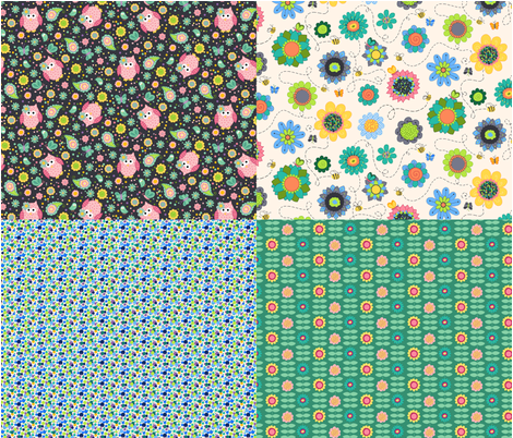 Sweetie Pie Collection fabric by beebumble on Spoonflower - custom fabric