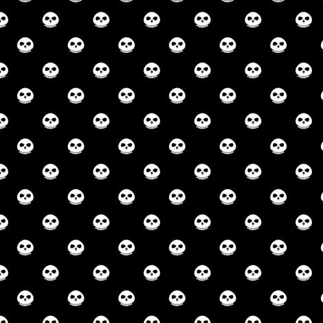 Bone Skull Polka Dots fabric by taracrowleythewyrd on Spoonflower - custom fabric
