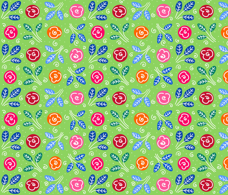 Little Roses fabric by yellowstudio on Spoonflower - custom fabric