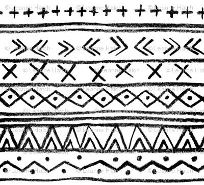 Chalk Tribal Stripe (White)