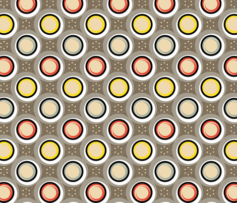 Hatch Dots || midcentury modern polka dots texture circles abstract geometric atomic texture upholstery fabric by pennycandy on Spoonflower - custom fabric