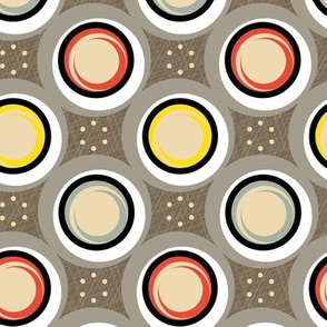 Hatch Dots || midcentury modern polka dots texture circles abstract geometric atomic texture upholstery