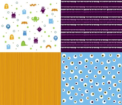 Monster Mashup fabric by jenimp on Spoonflower - custom fabric