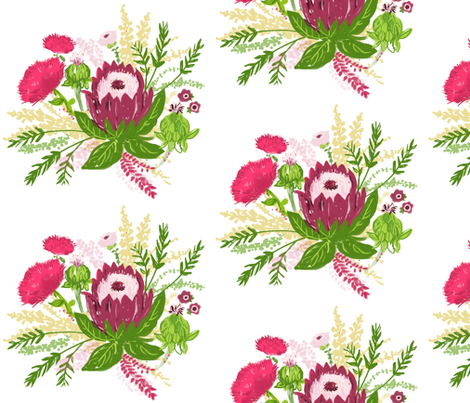 Fall Floral  fabric by fable_design on Spoonflower - custom fabric