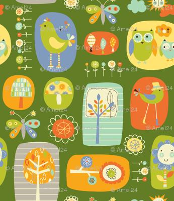owl and bird garden