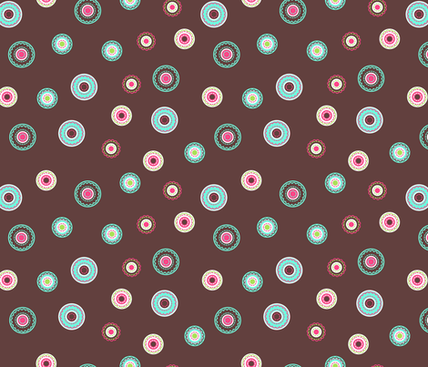 Stitched circles fabric by cjldesigns on Spoonflower - custom fabric