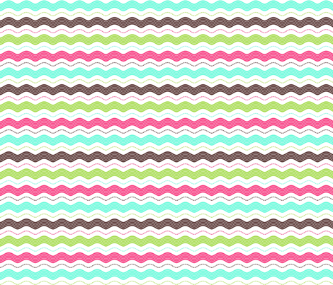 Stitched ric rac  fabric by cjldesigns on Spoonflower - custom fabric
