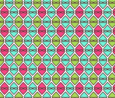 Stitched hearts fabric by cjldesigns on Spoonflower - custom fabric