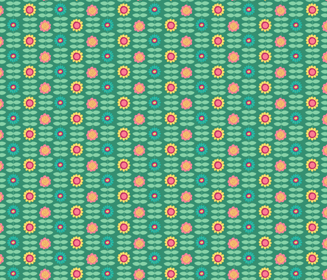 Sweetie Pie Floral Stripe fabric by beebumble on Spoonflower - custom fabric