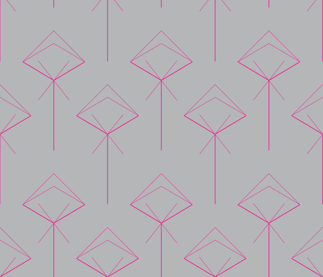 arrow X pink fabric by capucine333 on Spoonflower - custom fabric