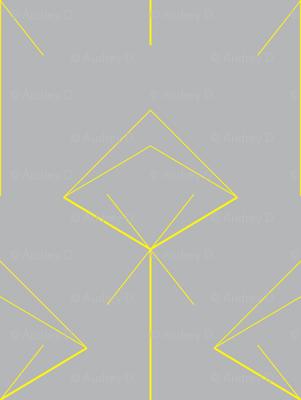 arrow X yellow