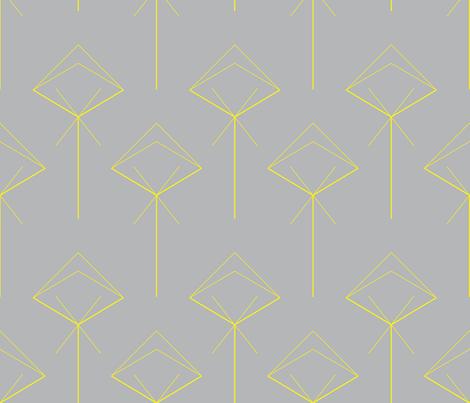 arrow X yellow fabric by capucine333 on Spoonflower - custom fabric