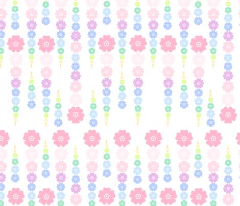Rainbow Pastel - Flower Beads  -  © PinkSodaPop 4ComputerHeaven.com fabric by pinksodapop on Spoonflower - custom fabric