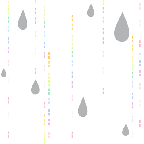 Rainbow Pastel - Drip Drops -  © PinkSodaPop 4ComputerHeaven.com fabric by pinksodapop on Spoonflower - custom fabric