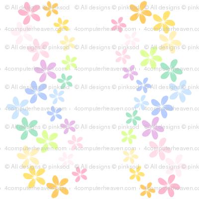 Rainbow Pastel - Hula Flowers -  © PinkSodaPop 4ComputerHeaven.com