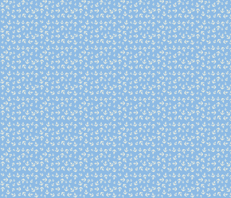 sky anchors fabric by annaboo on Spoonflower - custom fabric