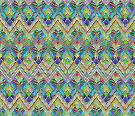 Nomad Chevron fabric by joanmclemore on Spoonflower - custom fabric
