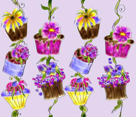 Yummy Cupcake Posie  Fabric by Rosanna Hope for Baby Bon Bons fabric by rosannahope on Spoonflower - custom fabric