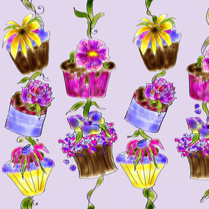 Yummy Cupcake Posie  Fabric by Rosanna Hope for Baby Bon Bons