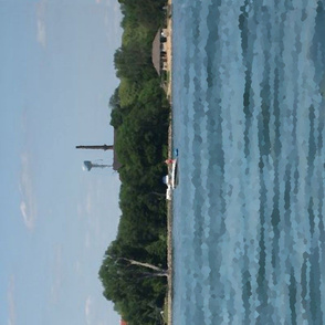 In Madison, Wisconsin, it's all about the lakes [1-yd border print]