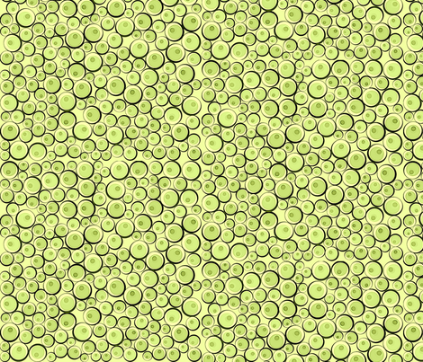 bauble effect lime fizz fabric by glimmericks on Spoonflower - custom fabric