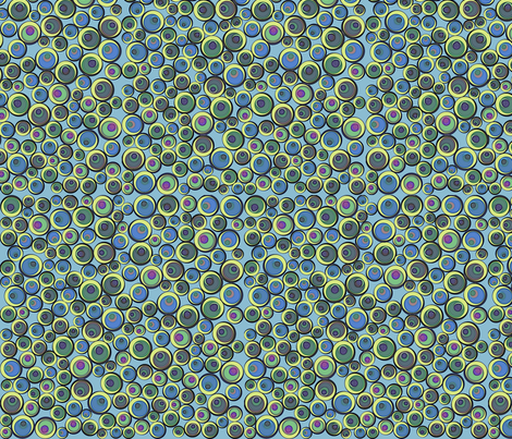 bauble effect peacock drops fabric by glimmericks on Spoonflower - custom fabric